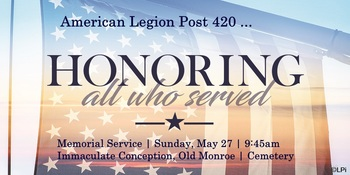 Memorial Service - Honoring all those who served.