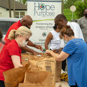 Hope and Purpose hurricane relief distribution Kenner, LA