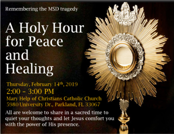 A Holy Hour for peace and healing