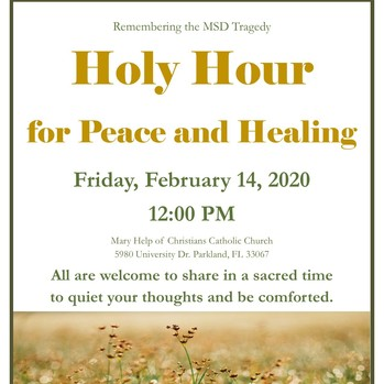 Holy Hour for Peace and Healing