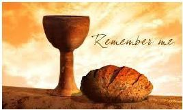 Small image of chalice and bread for Holy Thursday