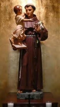 image of statue of St. Anthony from our church