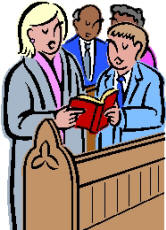 clipart of people singing in church