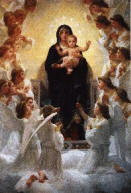 The Virgin with Angels, by William Bouguereau (1825-1905)