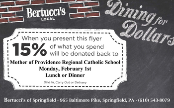 Bertucci's Spirit Night