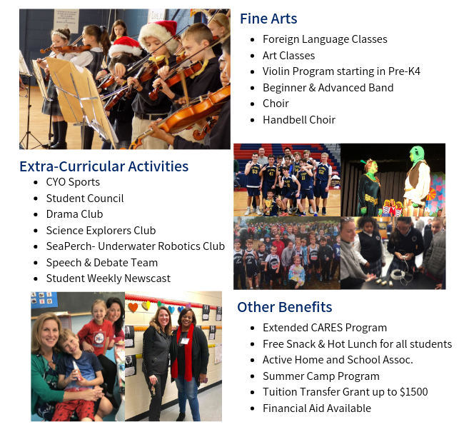 School Arts Program, Extra Curriculars, Preschool, Elementary, Middle School