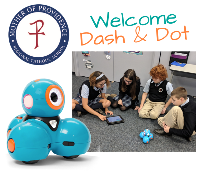 Middle School Students work with robotics in technology class