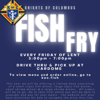 CANCELLED--Knights of Columbus Fish Fry