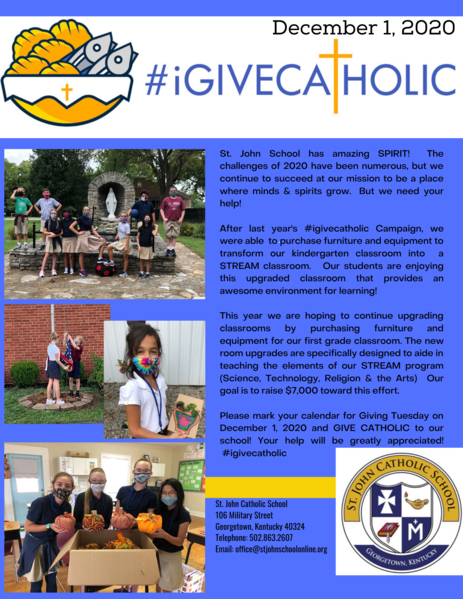 Save the Date for iGiveCatholic