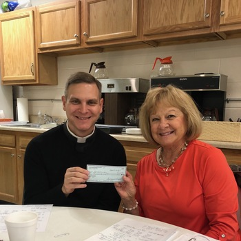 St. Patrick's Altar & Rosary Society Makes Donation