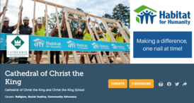 December 1st is Giving Tuesday. Help us raise $10,000 towards the Catholic Habitat Build