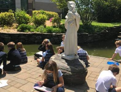 Religion Class In The Mary Garden