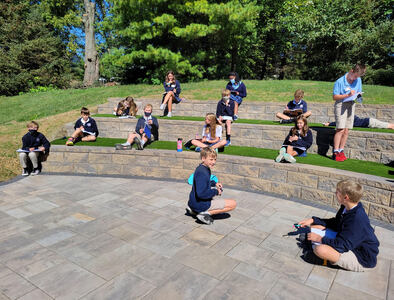 6th Grade Students Use New Outdoor Learning Center!