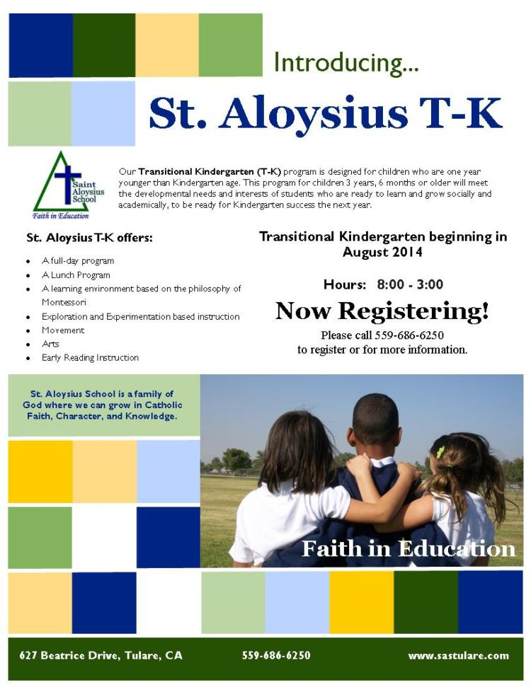 St. Aloysius Introduces T-K