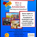 Win A TRIP TO AMSTERDAM and stay on a houseboat!