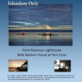 15% Islander Discount Available Through May 30th at VPD Lodgings!