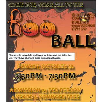 Boo Ball Family Halloween Dance (Changed from 10/21 to 10/22)