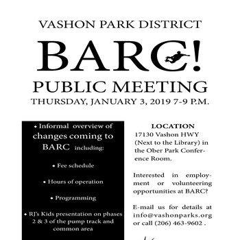 BARC! PUBLIC MEETING