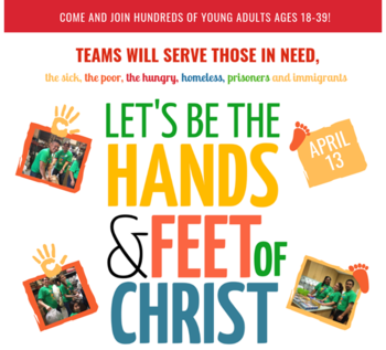 "Archdiocesan Young Adult Service Day ""LET'S BE THE HANDS AND FEET OF CHRIST"""
