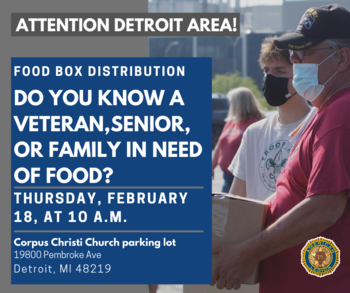 40 Pound Food Box Distribution in Corpus Christi parking lot