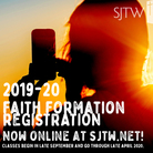 2019-20 Faith Formation Registration is NOW ONLINE!