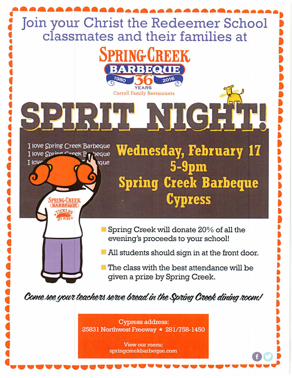 Spirit Night at Spring Creek