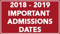 Important Admissions Dates