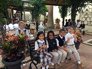 2nd Grade Rosary in the Prayer Garden
