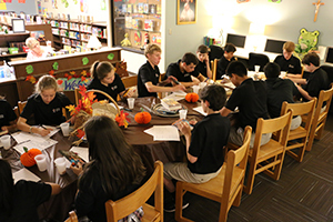 Junior High Feasts on a Book Tasting