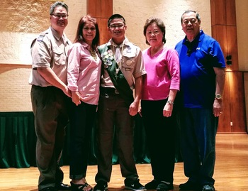 Crusader Achieves Boy Scout Religious Emblem