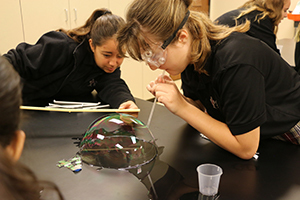 Students Test Scientific Method with Bubbles