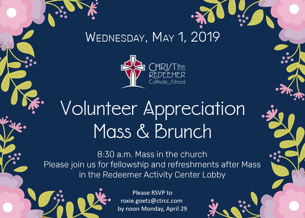 Volunteer Appreciation Mass and Brunch