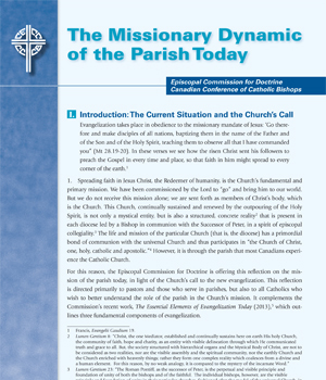 The Missionary Dynamic of the Parish Today