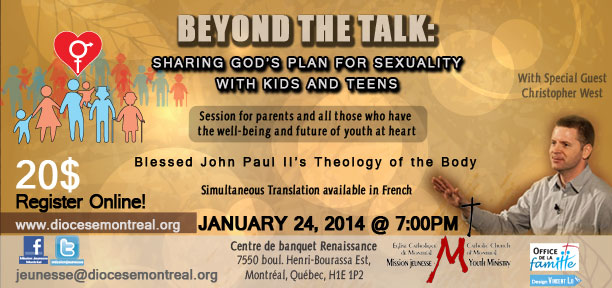 Session for Parents: Beyond the Talk: Sharing God's Plan for Sexuality with kids and teens