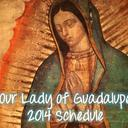 Our Lady of Guadalupe Schedule 2014