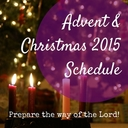 Advent & Christmas Schedule 2015