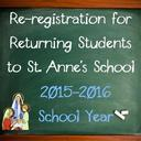 Re-registration of Current Students at St. Anne's School