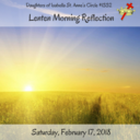 Lenten Morning Reflection 2018