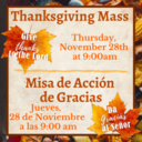 Thanksgiving Mass 2019