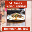 St. Anne's Senior Luncheon for November