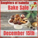 Daughters of Isabella Bake Sale