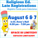 Late Religious Ed Registrations