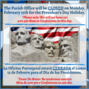 President's Day (Office Closed)
