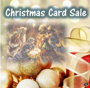 Christmas Card and Our Lady of Guadalupe Pin Sale
