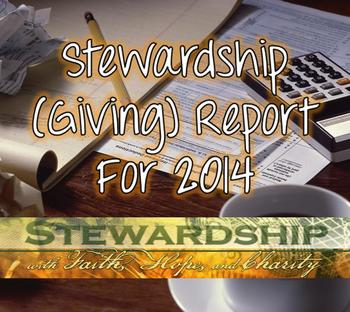 Stewardship (Giving) Report 2014