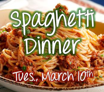 Spaghetti Dinner - Science Camp Fundraiser