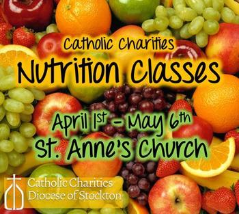 Nutrition Classes at St. Anne's
