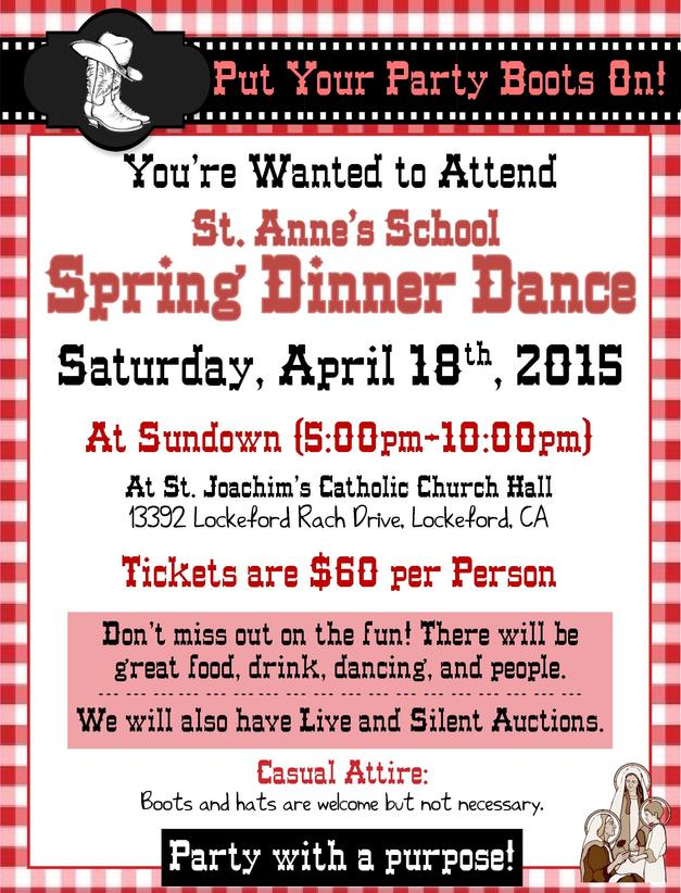 St. Anne's School Spring Dinner and Dance 2015