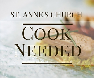 Rectory Cook Needed at St. Anne's