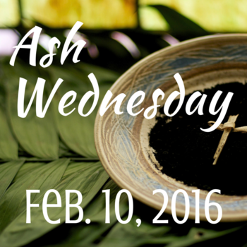 Ash Wednesday Schedule 2016